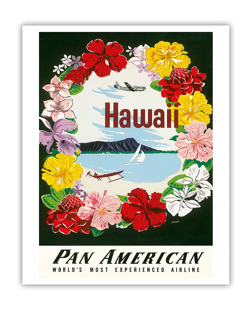 Amazon Hawaii Pan American Airlines Paa Flower Lei And