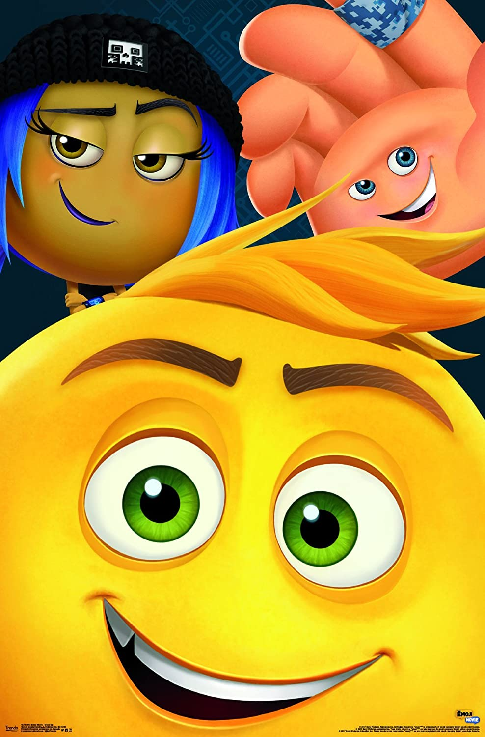 """Trends International Wall Poster The The Emoji Movie Close-Up, 22.375"""" x 34"""""""