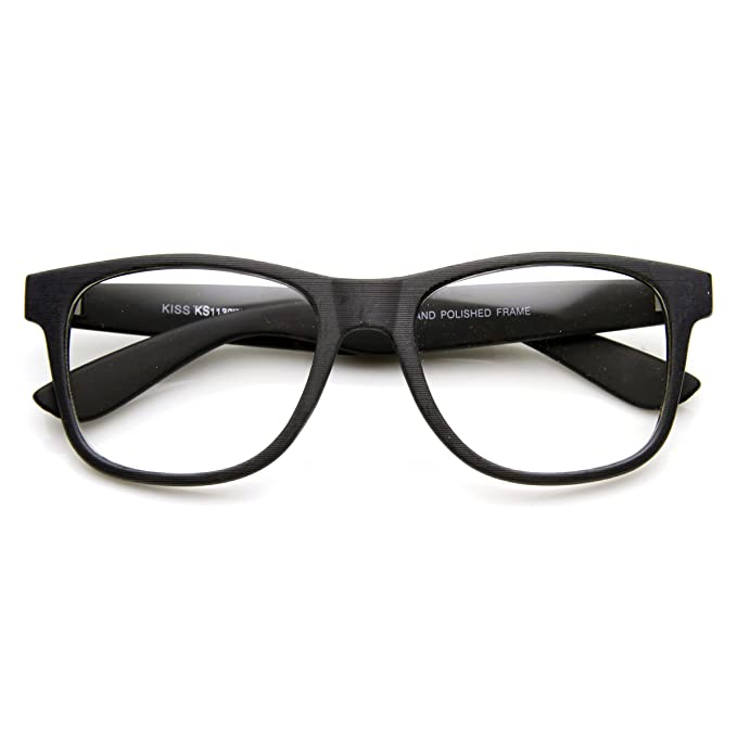 3a9ef926d31c Image Unavailable. Image not available for. Color  Flat Matte Classic Geek  Nerd Glasses Horn Rimmed Eyeglasses UV400 Clear Lens (Black ...