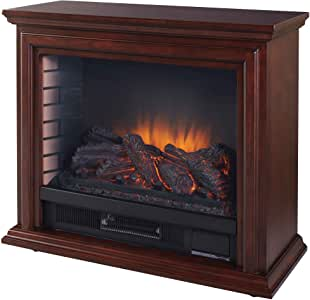 Pleasant Hearth GLF-5002-68 Sheridan Mobile Electric Fireplace, Cherry