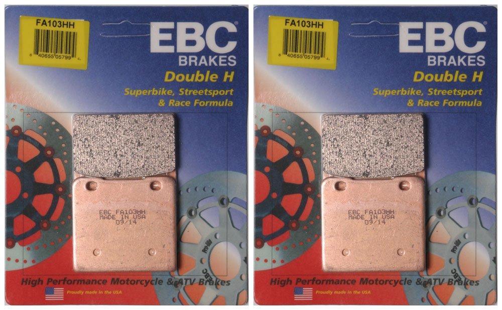 2 Packs - Enough for 2 Rotors EBC Double-H Sintered Metal Brake Pads FA103HH