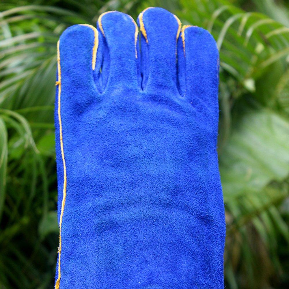 Guantes de manga larga de 40,6 cm para codo de codo para miga, soldador de tijas, barbacoa, jardinería, camping, estufa, chimenea (CYST03-UK): Amazon.es: ...