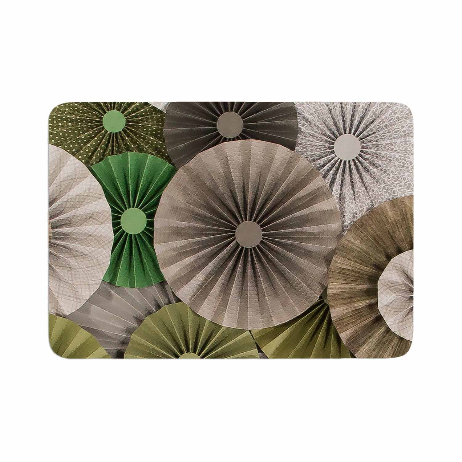 Kess InHouse Heidi Jennings Forest Green Abstract Memory Foam/ Bath Mat 24 by 36