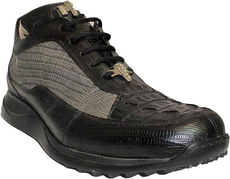 Mauri Men's Ostrich Crocodile Sneakers