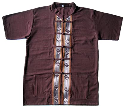 387268e29b35a Siam Import Co Tribal T-Shirt - Brown at Amazon Men's Clothing store: