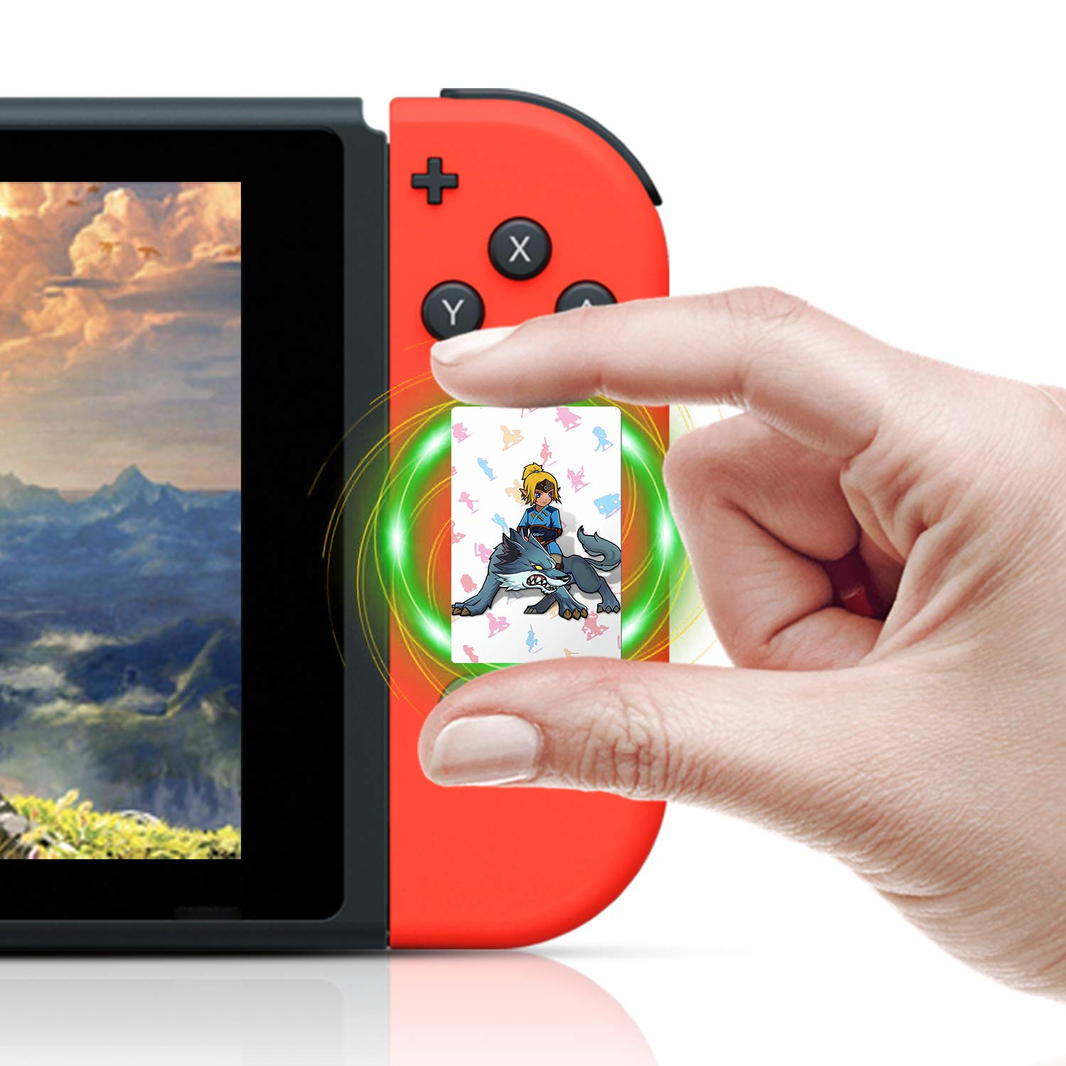 NFC Cards for the Legend of Zelda Breath of the Wild Switch Wii U, 22pcs with Crystal Case