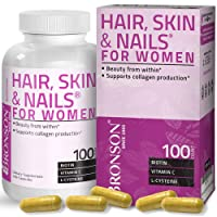Hair, Skin & Nails with Biotin Extra Strength Vitamin Supplement for Women, 100...