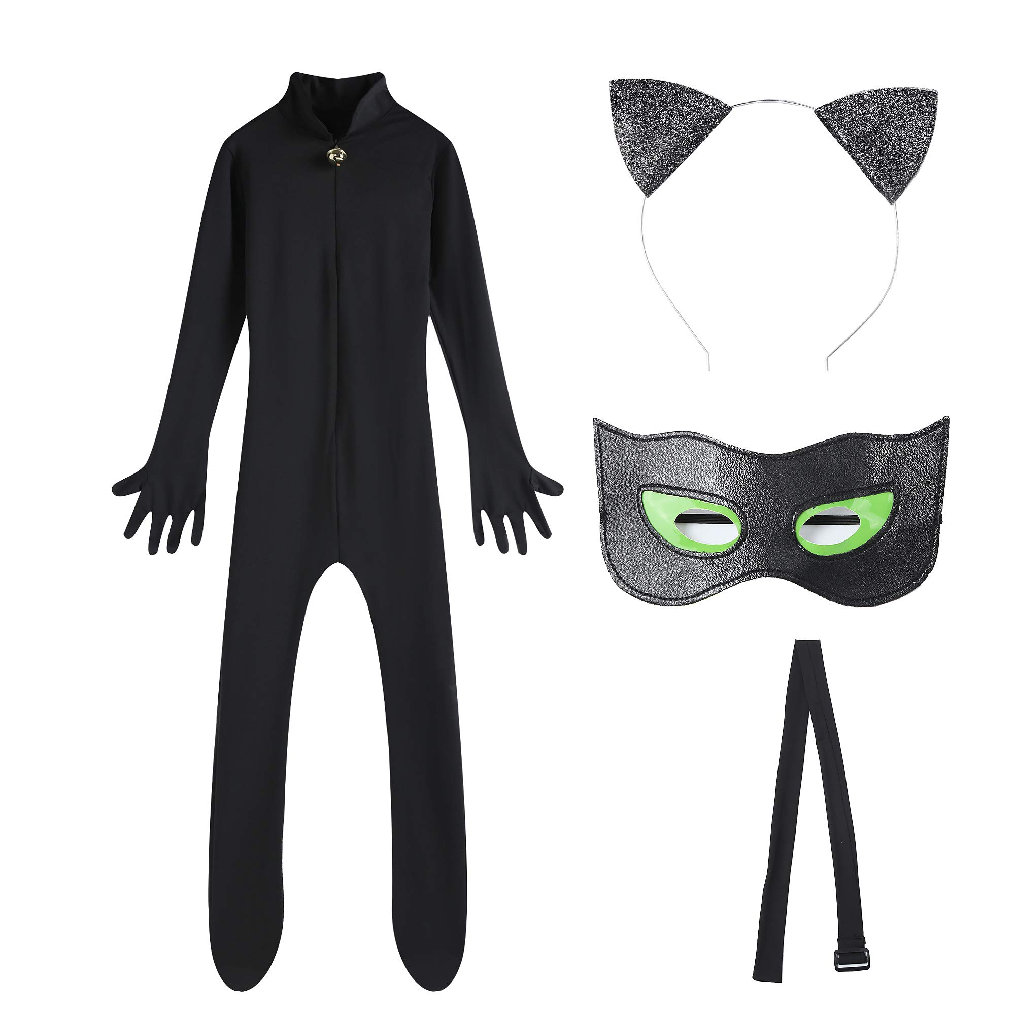 Tomlyws Halloween Party Child Cosplay Kid Costumes Chlid Little Beetle Suit Black Cat Noir Jumpsuit for Christmas