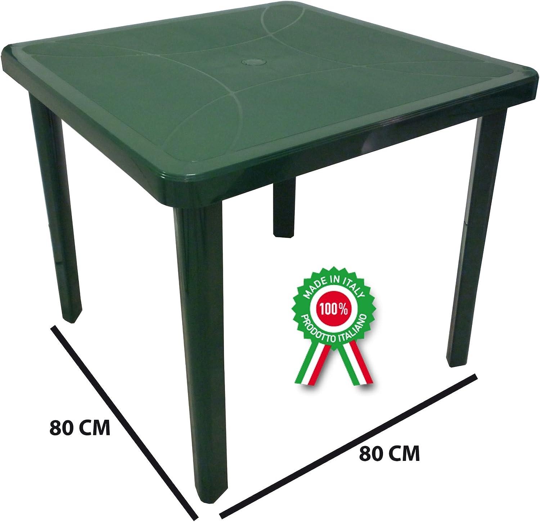 Tavoli Di Plastica Per Esterno.Sf Savino Filippo Tavolo Tavolino Quadrato 80x80 Nettuno In Dura