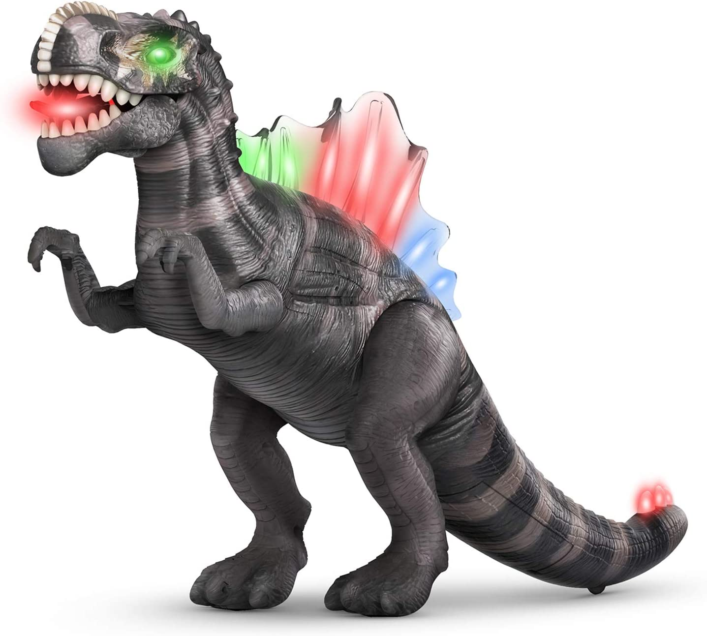 Green Jaolex Walking Dinosaur Toys with Lights and Sounds Dragon Figures for Boys and Girls 3 4 5 6 7 Year Old