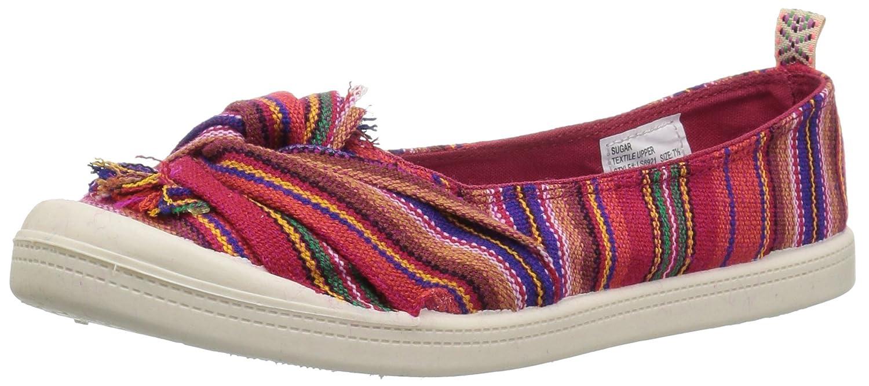 Sugar Womens Goal Casual Slip On Canvas Sneaker B0788BKVRR 10 B(M) US Red/Multi Stripe