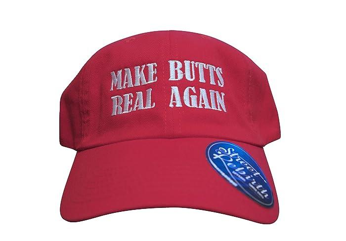 03b812eb51e Amazon.com  Make Butts Real Again Dad Cap - Trump Parody Hat - Make America Great  Again Remix - Funny Political Laugh  Handmade