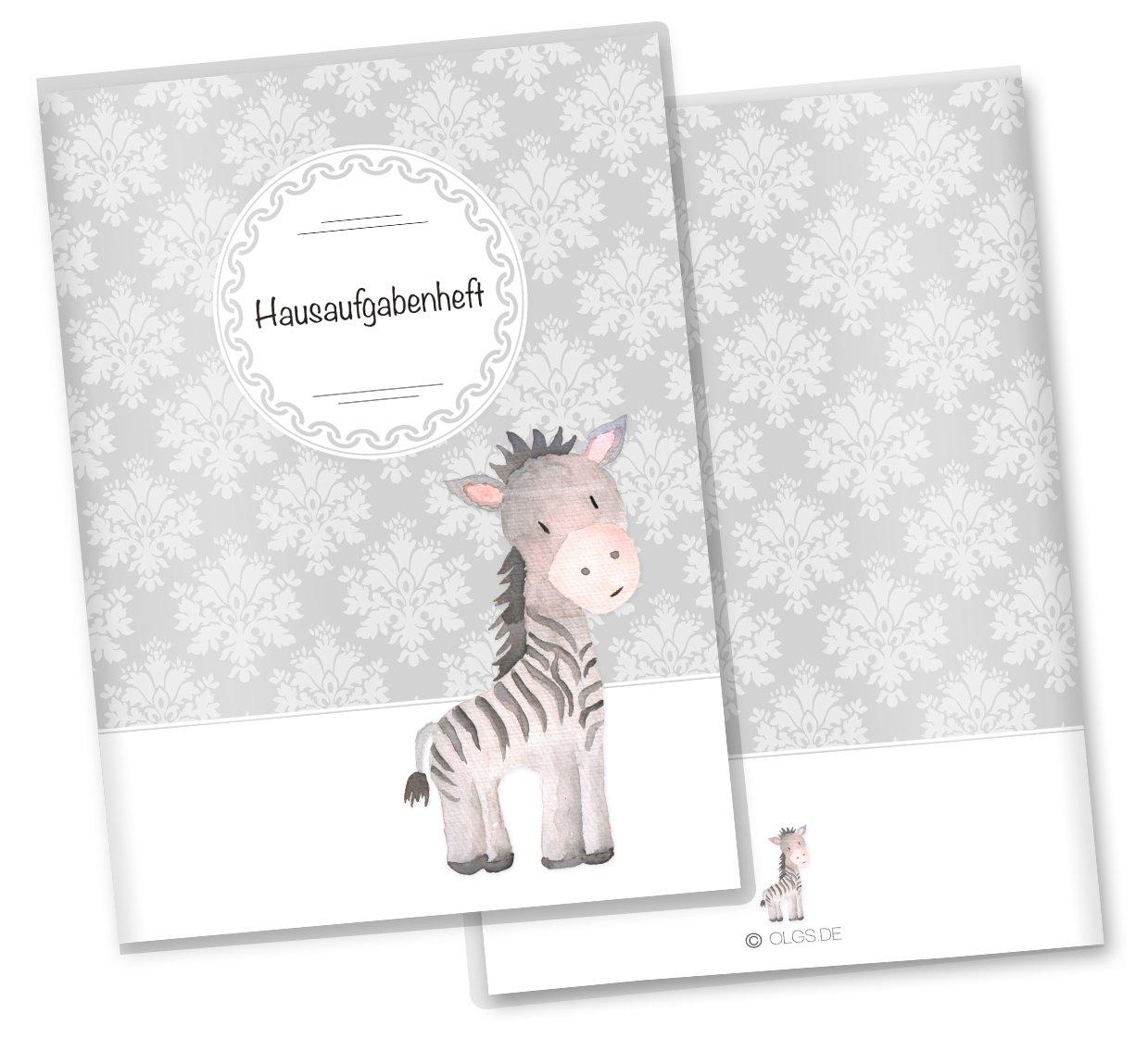 Hausaufgabenheft Hü lle Black & White Schutzhü lle Geschenkidee (Ohne Personalisierung, ohne Motiv) Olgs Babyartikel