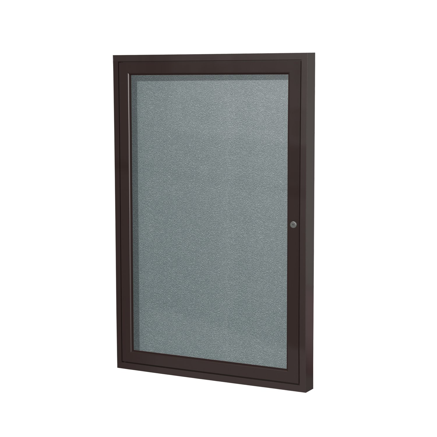 1 Door Outdoor Enclosed Bulletin Board Frame Finish: Bronze, Size: 2' H x 1'6 W, Surface Color: Stone Ghent PB12418VX-199