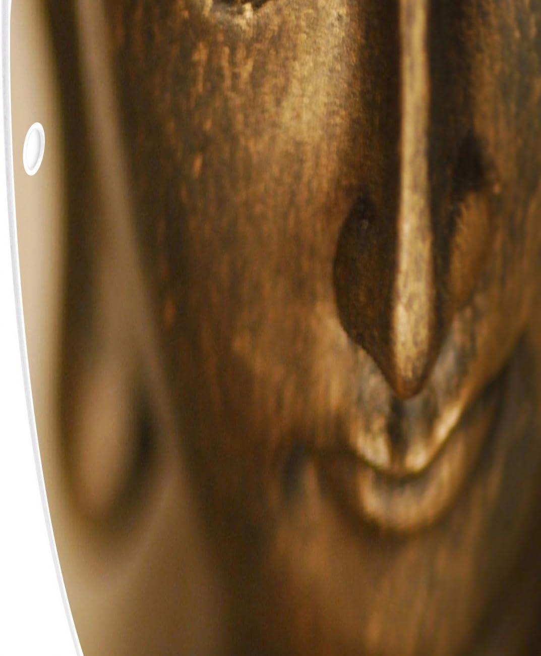 Pinnwand magnetisch 47cm /Ø Memoboard mit Motiv Buddha Gold Design Magnettafel von banjado Magnetwand schwarz aus Metall rund