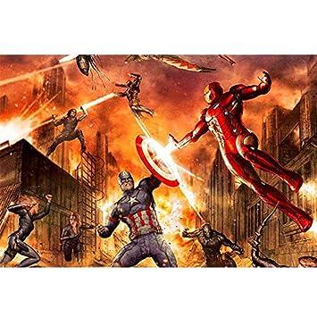 ⏰ Marvel Hulk cartel de película, de madera rompecabezas ...