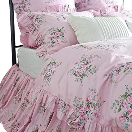 Amazon Com Queen S House Romantic Floral Pattern Duvet Cover Set
