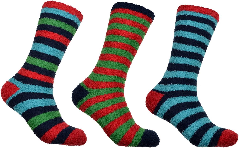 WB Socks Mens Soft /& Warm Mens Fluffy Socks 3 pairs per pack