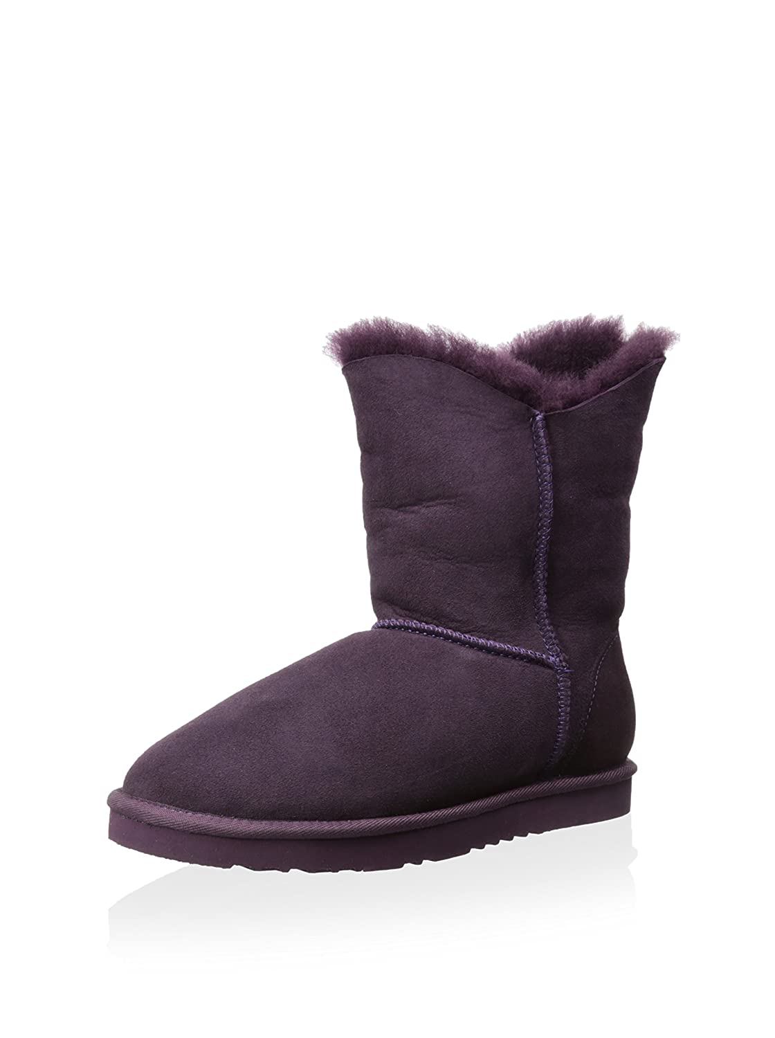 Koolaburra Women's Double Halo Short Snow Boot B00MTGJTF0 9 B(M) US|Purple