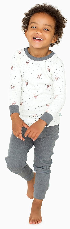 Off White Top /& Estrellas Pants Finn 4T Emma Little Prince Organic Cotton Toddler Pajama Sleep Set