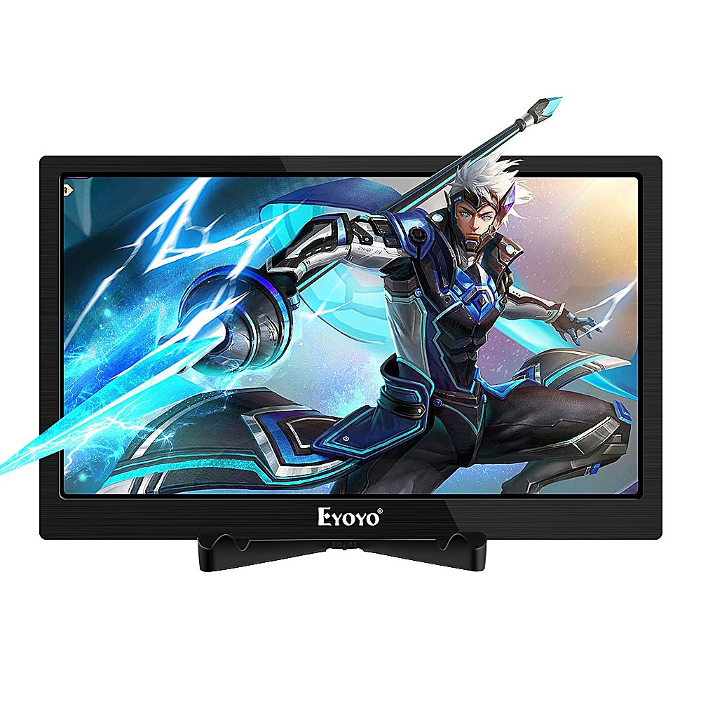 Eyoyo 13 inch IPS 2K HDMI Gaming Monitor, Portable 2560x1440  High-Resolution Display Screen Support Dual 4K HDMI Input Built-in Speakers  for PS2 PS3