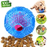 Interactive Dog Toys, Dog Chew Toys Ball for small Medium dogs , IQ Treat Boredom Food Dispensing, Puzzle Puppy Pals Tough Durable Nontoxic Rubber Pet ball, best Cleans Teeth dog balls