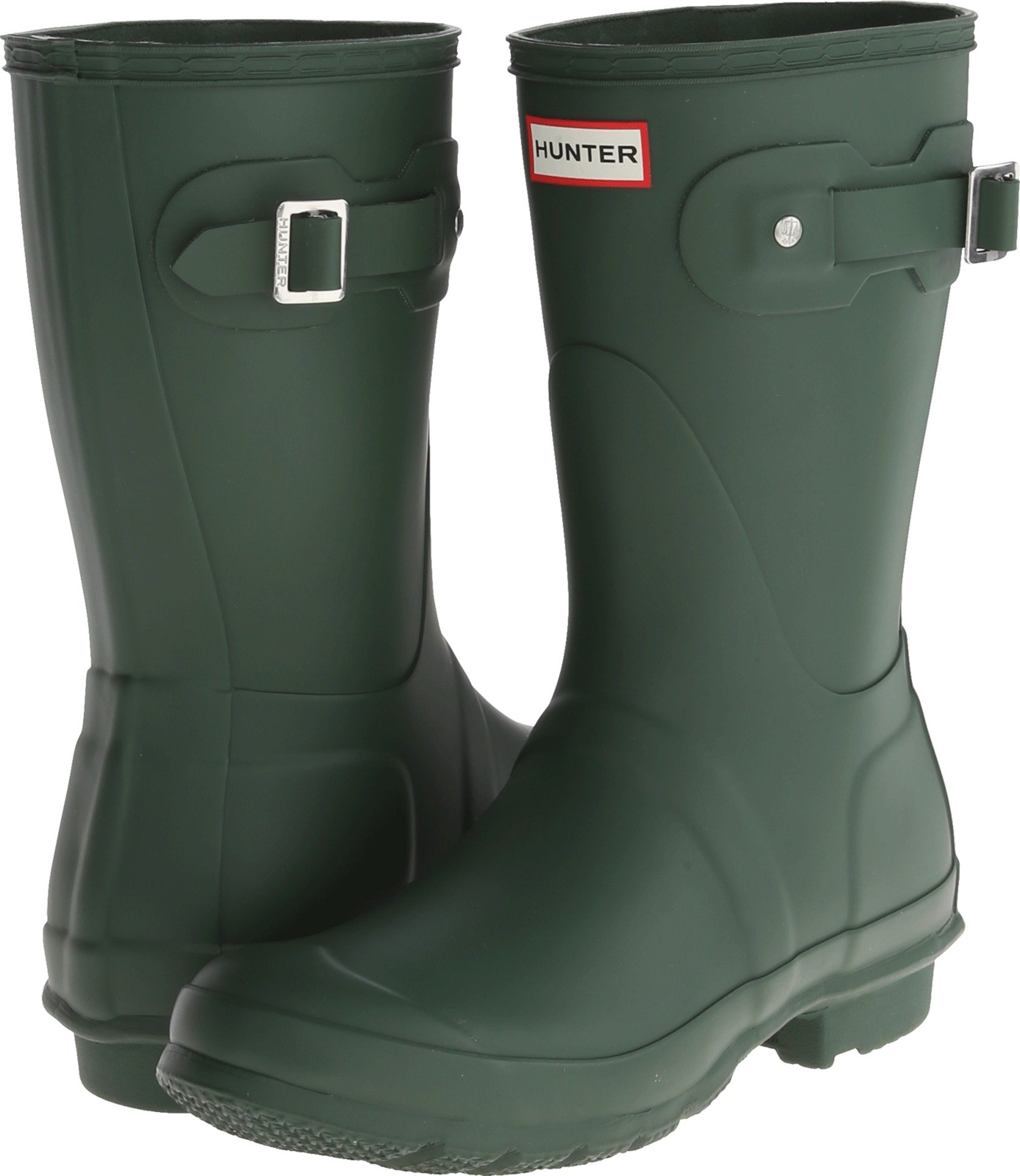 Hunter Womens Original Short Hunter Green Rain Boot - 8 B(M) US