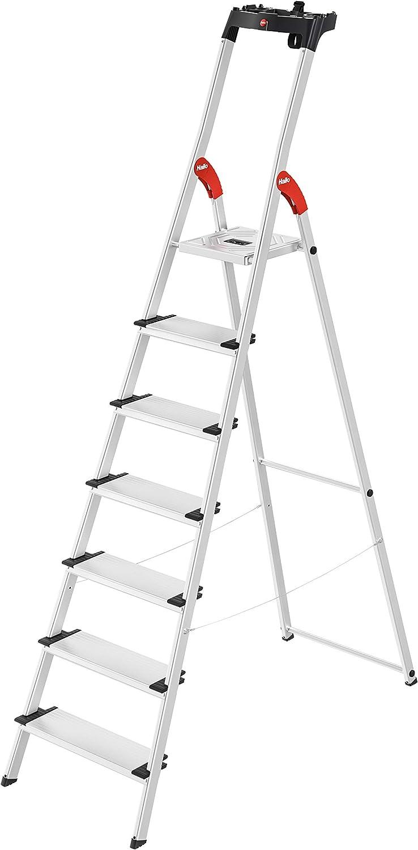 HAILO 8040-707 - Escalera de aluminio de tijera XXL-EasyClix (7 peldaños): Amazon.es: Bricolaje y herramientas