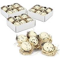 com-four® 24x Huevos de Pascua de plástico