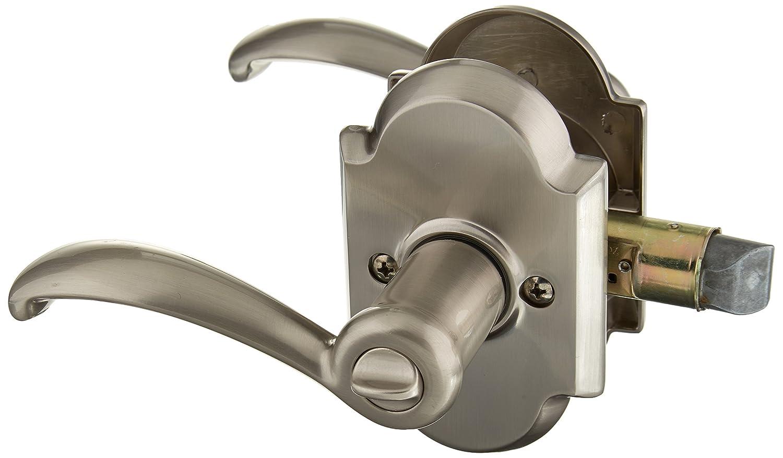 Satin Nickel Kwikset 730AUL 15 6AL RCS 97300-809 Austin Bed//Bath Lever
