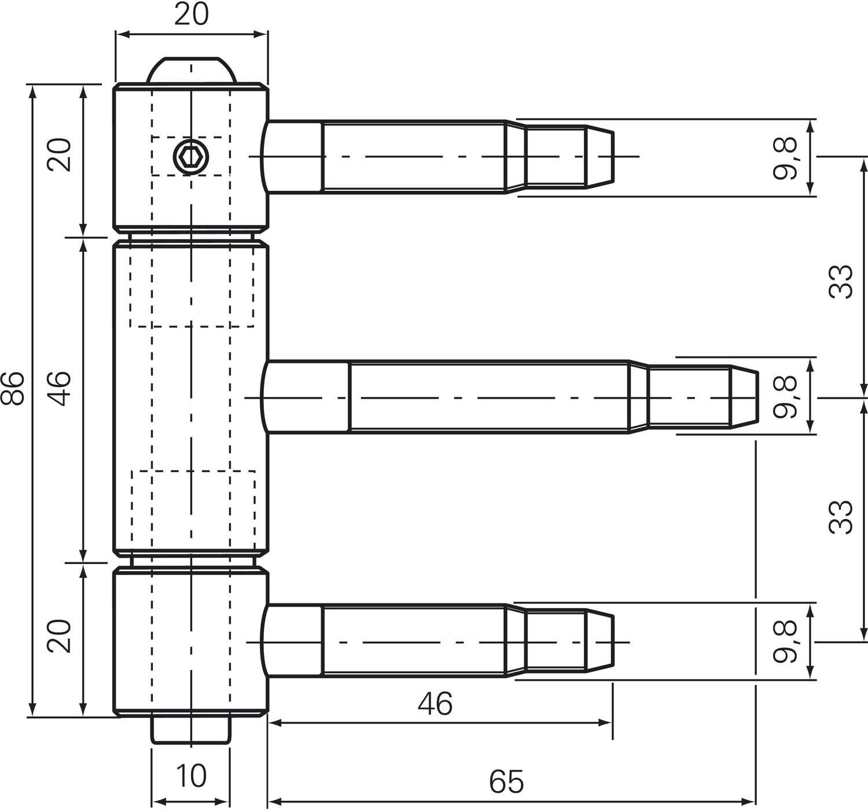 m Edelstahl Aush/ängesicherung /ø 20 mm Herkula-Band 3-teilig