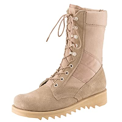 Amazon.com : Rothco G.I. Type Ripple Sole Desert Tan Jungle Boots : Sports & Outdoors