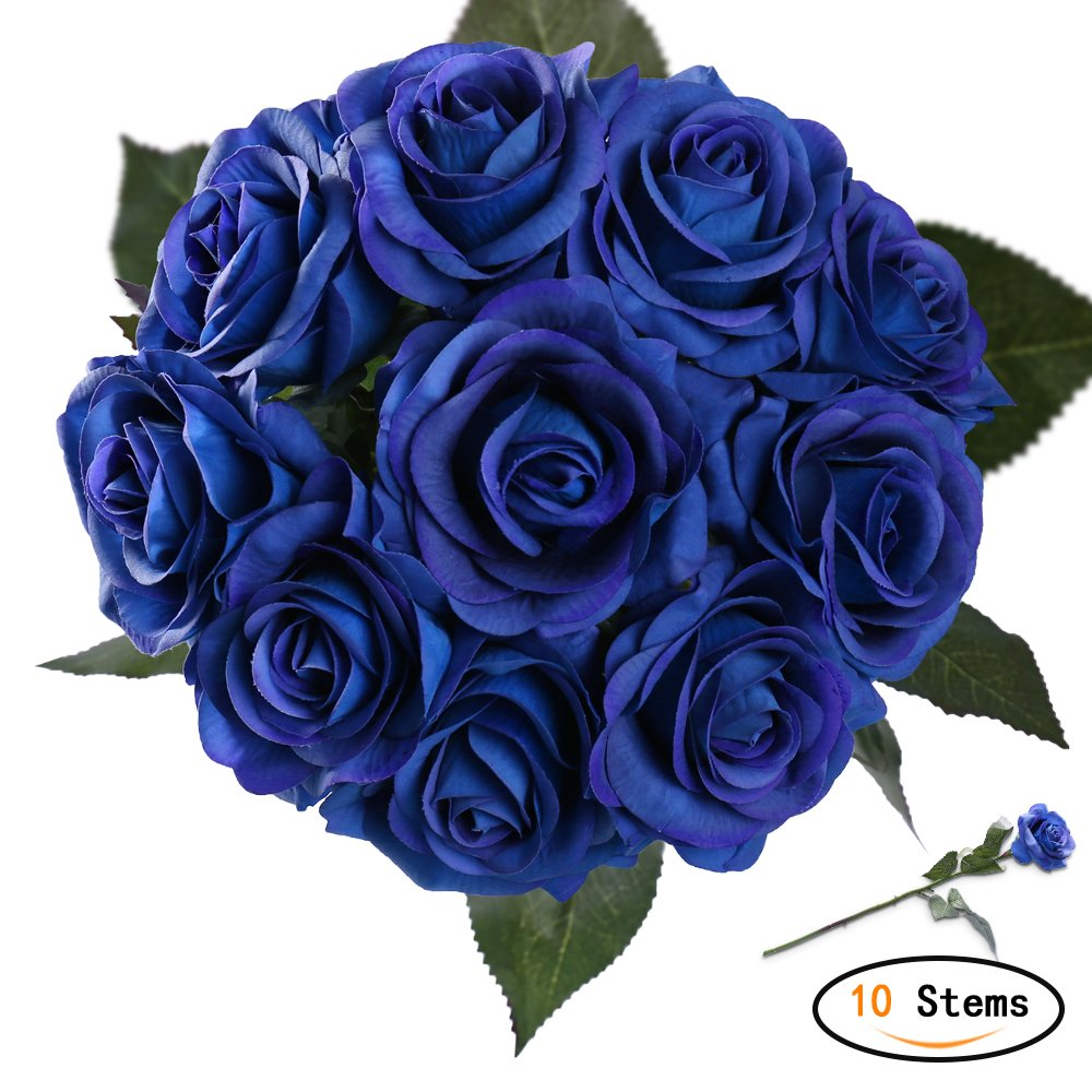 Amazon Starlifey Artificial Flowers Real Touch Blue Rose