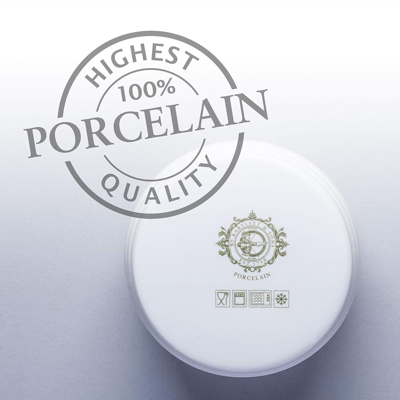 WM Bartleet /& Sons 1750 T260 color blanco Macetero tradicional de porcelana con decantador de madera de haya 11 cm