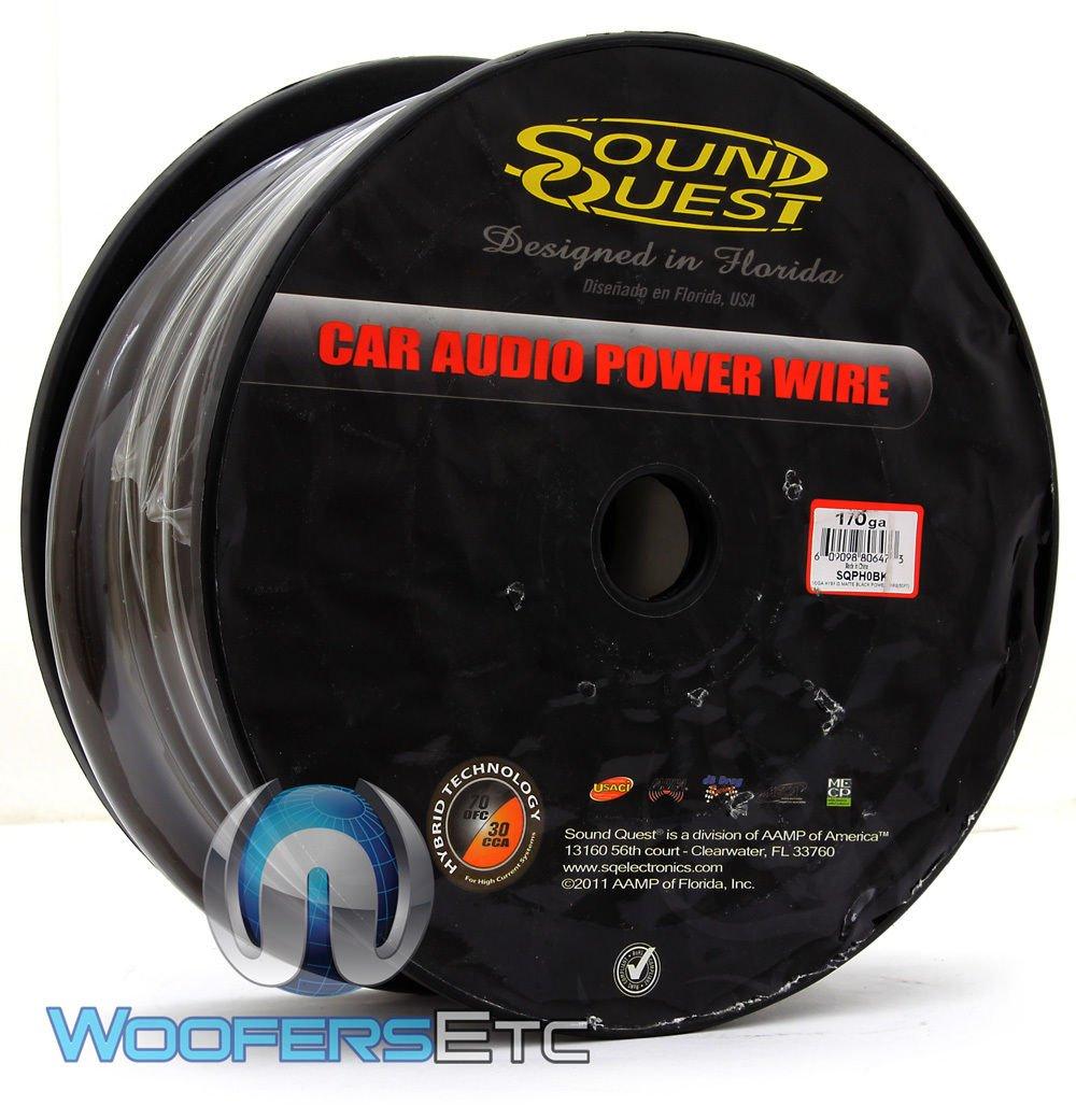 SQPH0BK - Soundquest 0 GA 50 Feet Power Wire Matte Black by SOUNDQUEST