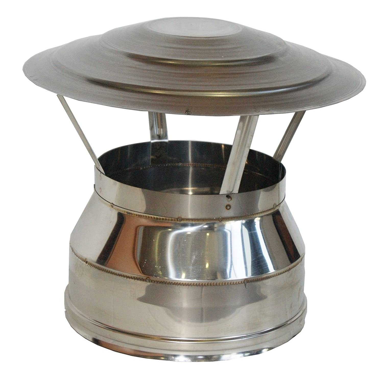 Mister Moby MISTERMOBY 130/180 MM TWIN WALL INSULATED STAINLESS STEEL ROOF COWL CHIMNEY CHINAMANS HAT
