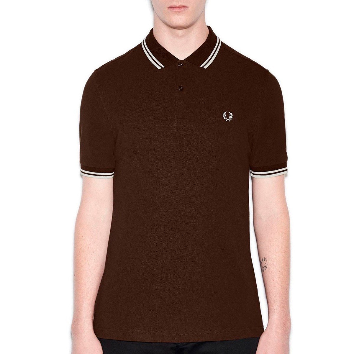 Dark Chocolate Ecru M Frouge Perry M3600, Polo Homme, gris, Taille Unique