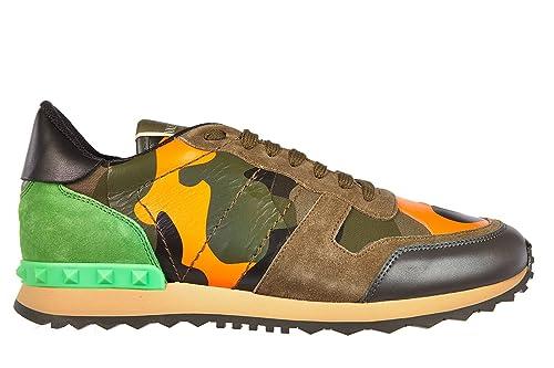 Valentino Garavani Zapatos Zapatillas de Deporte Hombres en Piel Verde: Amazon.es: Zapatos y complementos