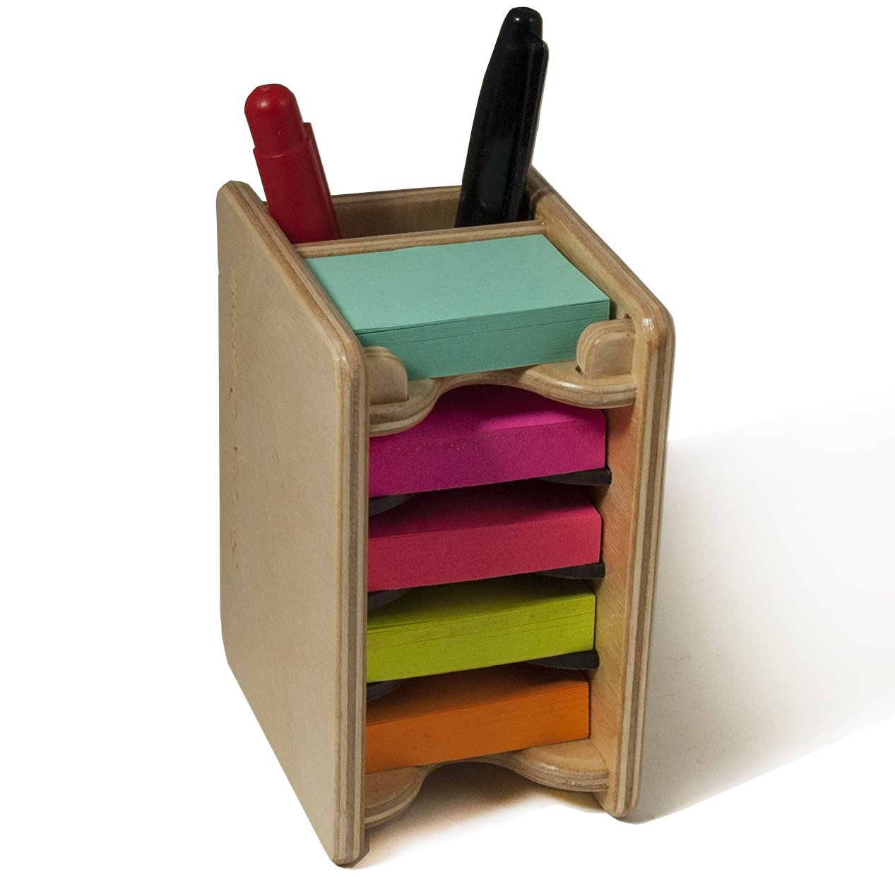 Strictly Origamic Colored Mini Sticky Notes Pad and Pen Holder/Organizer (Includes Five 1.5'' x 2'' Pads) by Strictly Origamic