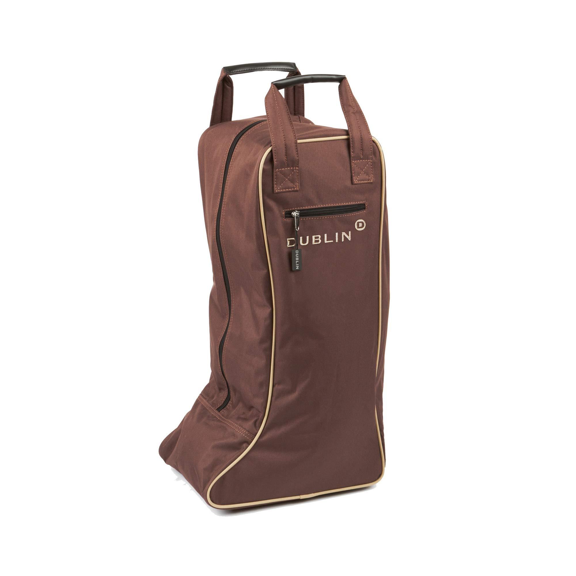Dublin Imperial Tall Boot Bag (One Size) (Chocolate/Cream) by Dublin