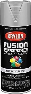 Krylon K02773007 Fusion All-In-One Spray Paint, Silver