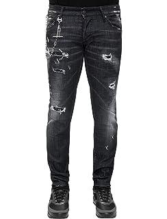 d0791f53f2d5 Dsquared2 Regular Clement Skinny fit Destroyed - Distressed Denim Jeans Grey