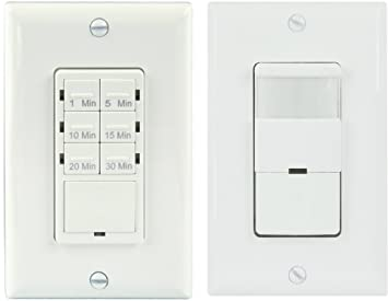 TOPGREENER Bathroom Fan Timer Switch and Light Sensor Switch Control30 Minute Timer Preset -  sc 1 st  Amazon.com & TOPGREENER Bathroom Fan Timer Switch and Light Sensor Switch ... azcodes.com