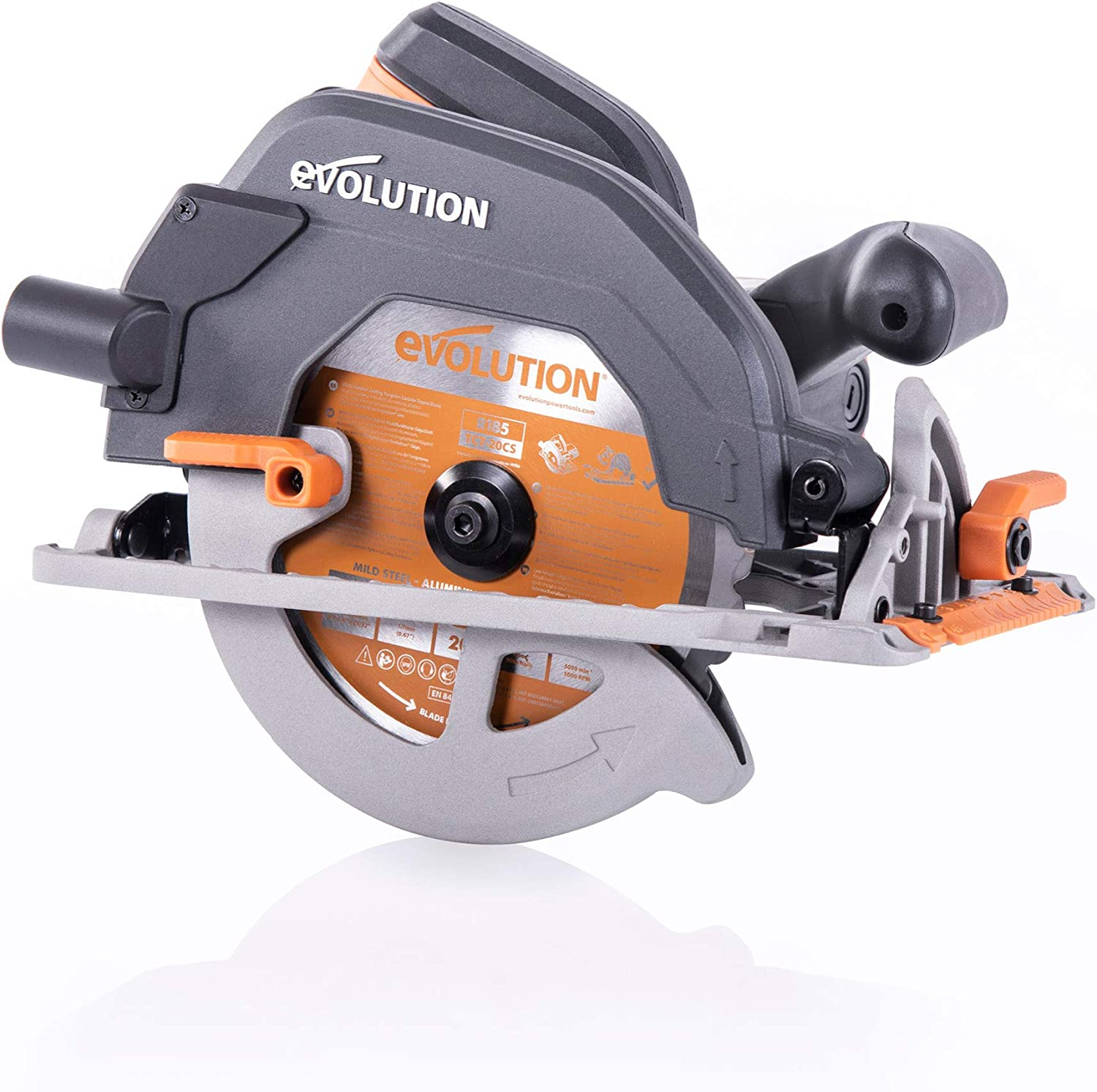 Evolution Power Tools 027-0003C Sierra circular multimaterial, 1600 W, 230 V