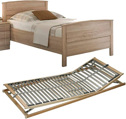 Vaja Set Seniorenbett Eiche Dekor Verstellbarem Lattenrost 100x200 Amazon De Kuche Haushalt