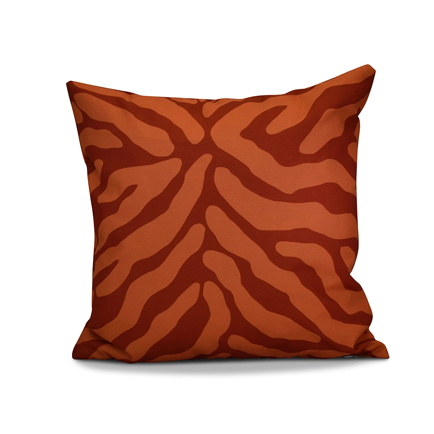 E by design PGN721OR11OR17-18 18 x 18-inch, Animal Stripe, Geometric Print 18x18 Red