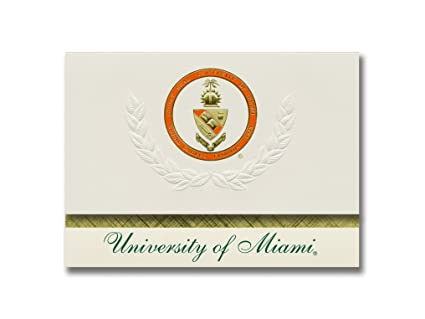 amazon com signature announcements university of miami school of