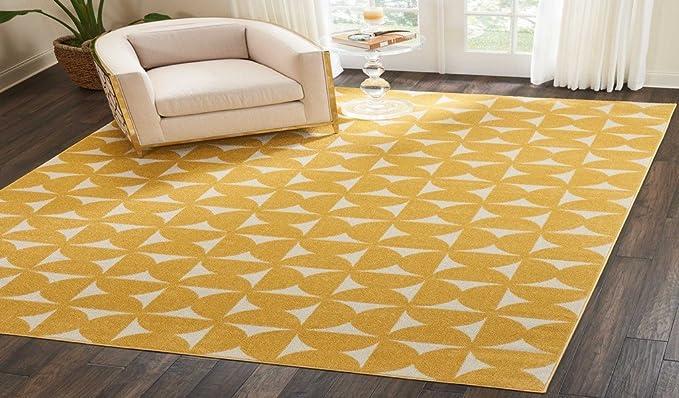 Nourison Dws03 Harper Area Rug 8 X 10 Yellow Furniture Decor