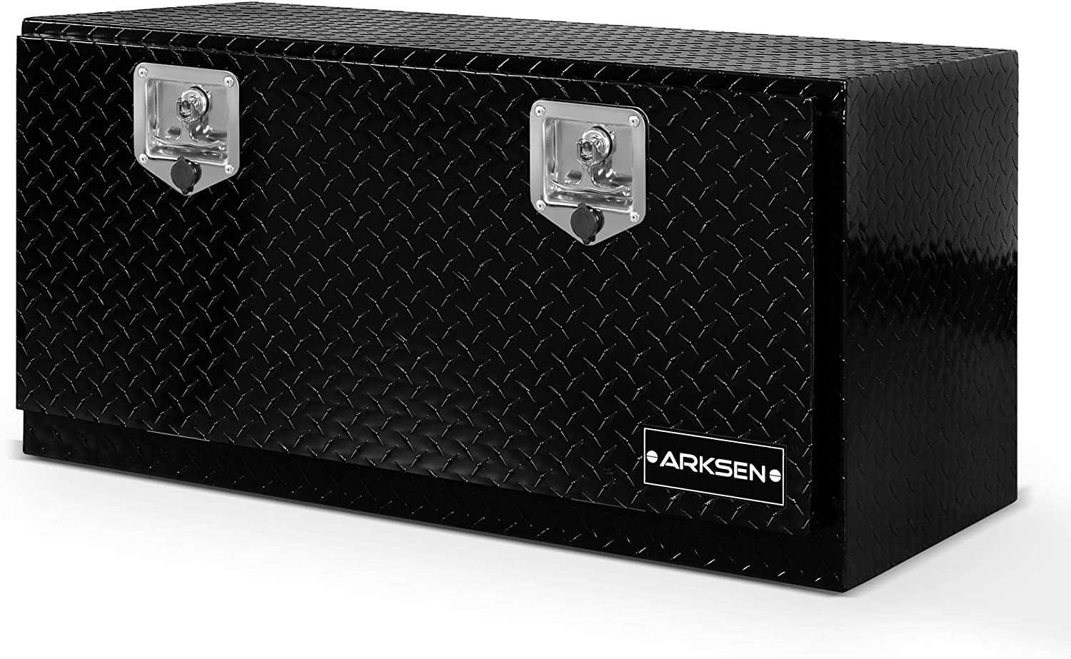 ARKSEN Durable Aluminum Diamond Plate Tool Box