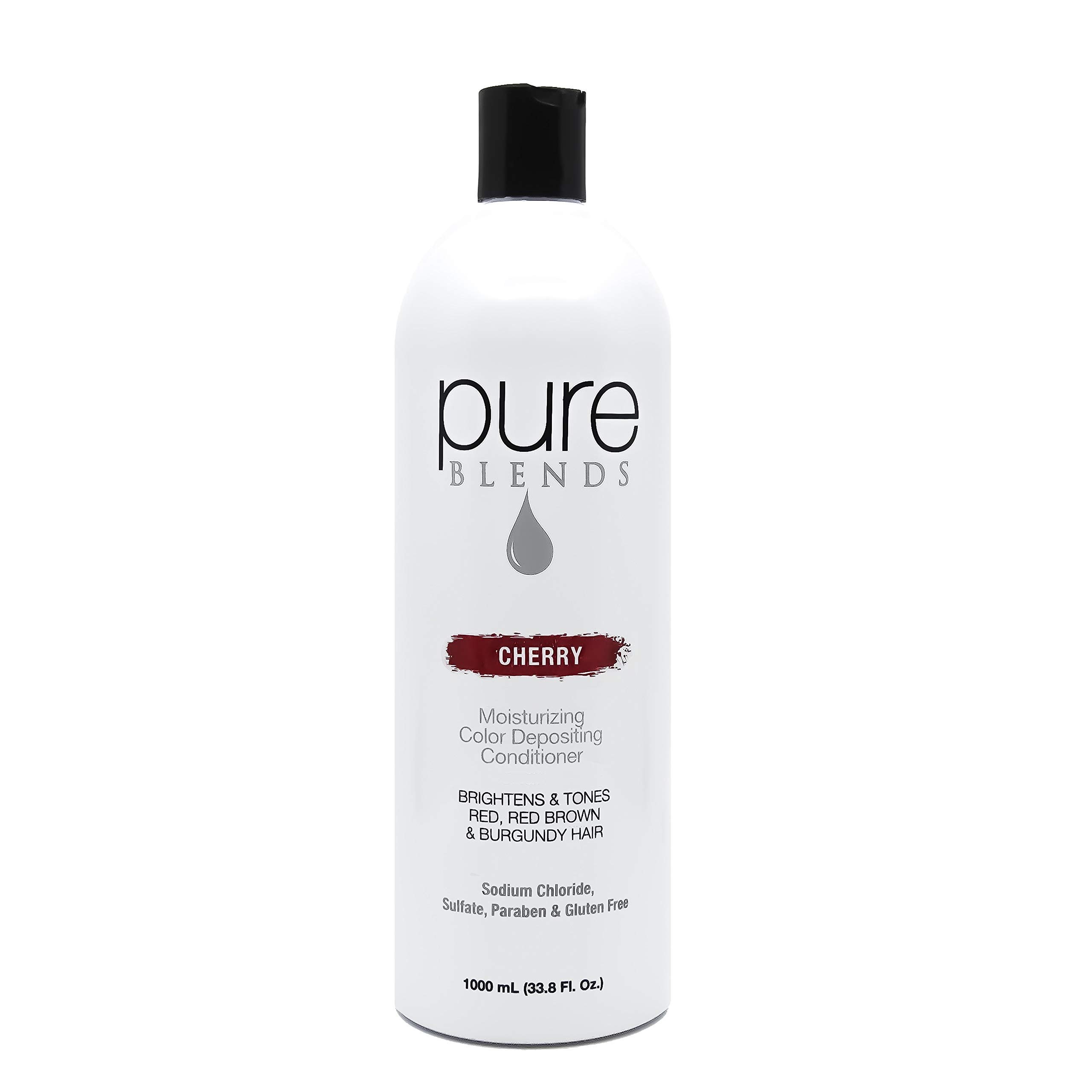 Pure Blends Moisturizing Color Depositing Conditioner - Cherry (Red, Red Brown and Burgundy Hair) 33.8 Ounce - Salon Quality by Pure Blends